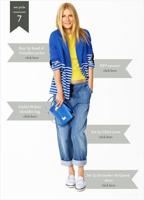 Los looks recomendados por Gwyneth Paltrow para esta primavera. http://mujeresdetila.com/?p=6729