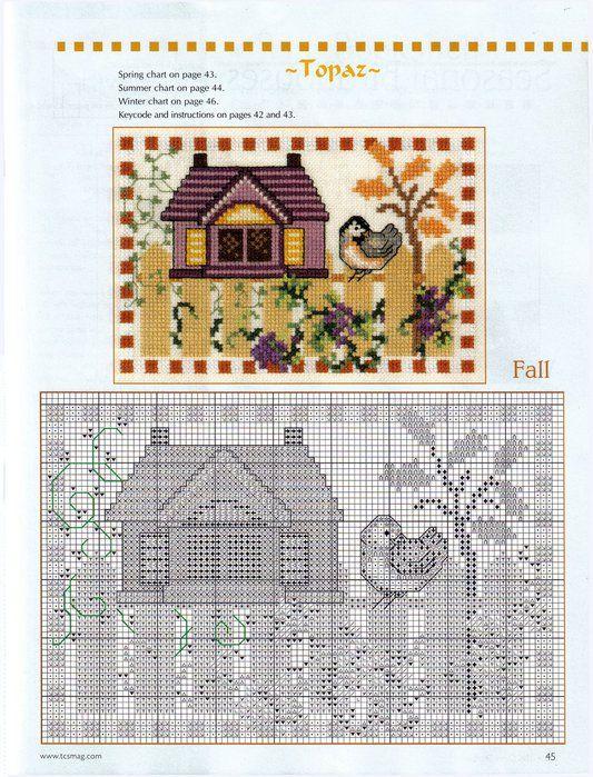 Seasonal Birdhouses-fall