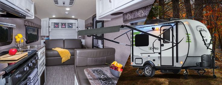 "Flagstaff E-Pro Travel Trailers The Flagstaff E-Pro line of travel trailers are for those campers that value being environmentally conscious and have chosen to drive today's more fuel efficient ""crossover"" vehicles and smaller SUVs. With floor plans that weigh within the towing capacity of these..."