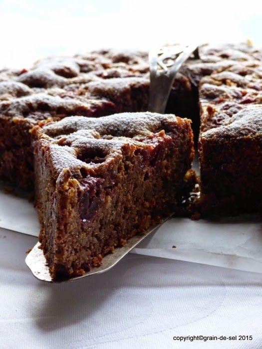 grain de sel - salzkorn: Schokolade, Nuss, Kirschen - dunkler Kirschkuchen