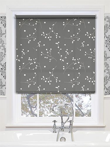 With a pattern of blossoms that are ready to bloom, this roller blind will be a beautiful accent to your bathroom. #patterned #bathroom #roller #blinds