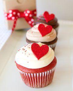 バレンタインカップケーキデコ方法