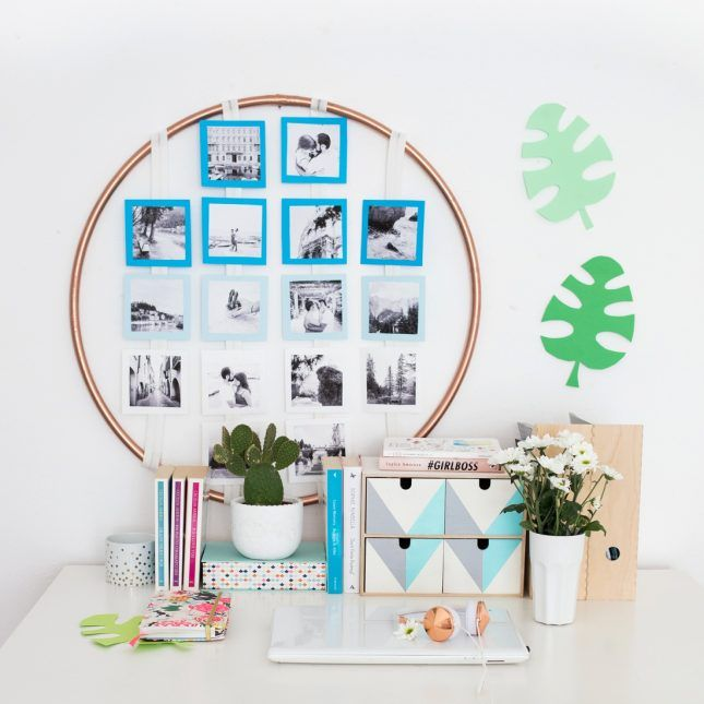 Try This Easy Photo Display DIY to Spruce Up Your Dorm Room | Brit + Co
