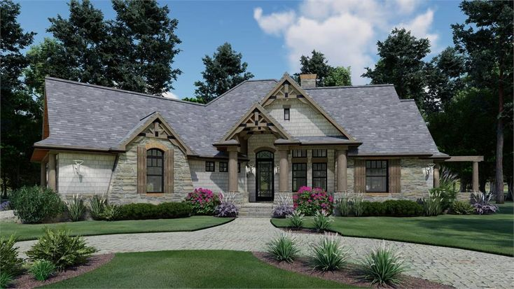 Beautiful Craftsman Style House Plan 1897 Vita Encantata Craftsman Style House Plans Rustic House Plans Craftsman House
