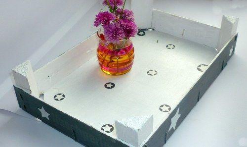 Obstkisten-Upcycling mit Farbe und Sternen DIY vonKari