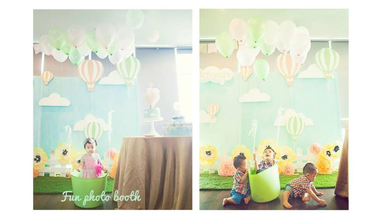 Fun photo booth for kids by Eve & Artistry.