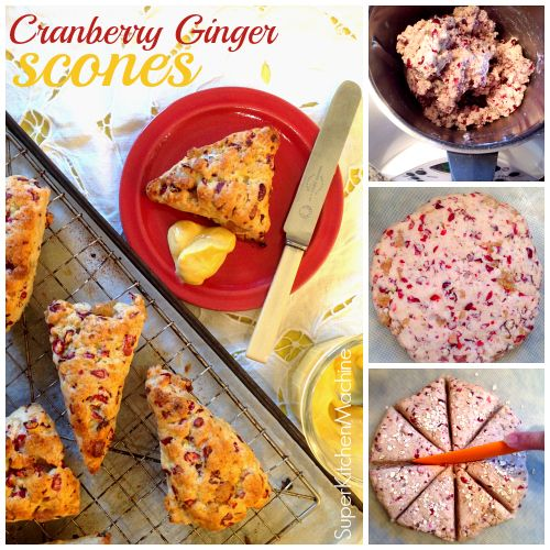 Easy #Thermomix scones #recipe with cranberry ginger chunks in every bite!