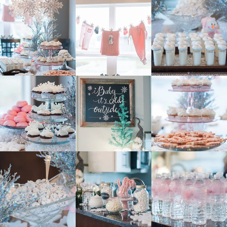 Kristina's Baby Shower- Baby It's Cold Outside Theme. Had fun planning it with…