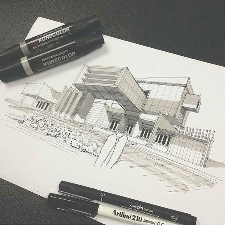 Modern Architecture Design Drawings 268 best inspiration idea -- architectural sketchs images on