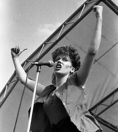 Hazel O'Connor by Andy Spearman, Slane 1981