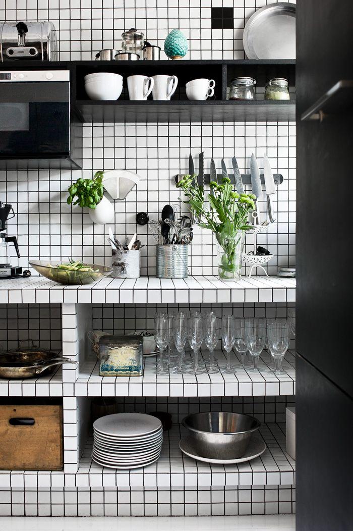 Inspiration une cuisine en noir et blanc