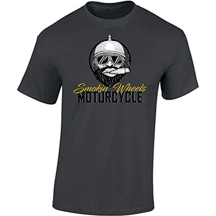 Biker Shirt: Smokin Wheels – Motorrad T-Shirt Herren Damen – Herren Herren Damen…