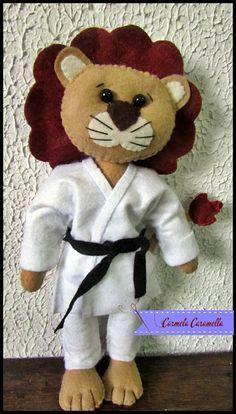 Free Felt Lion Pattern Karate Lion Carmela Caramella : Molde leão quimono