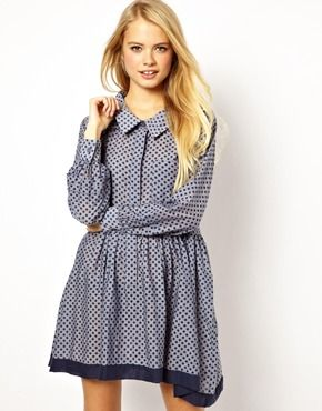 ASOS Shirt Dress In Chambray Spot. Get 7% cash back http://www.stackdealz.com/all/get-all-deals/ASOS-Coupon-Codes-and-Discounts--/0