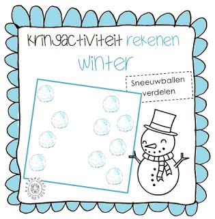 Kringactiviteit rekenen: Sneeuwballen verdelen | Thema WINTER