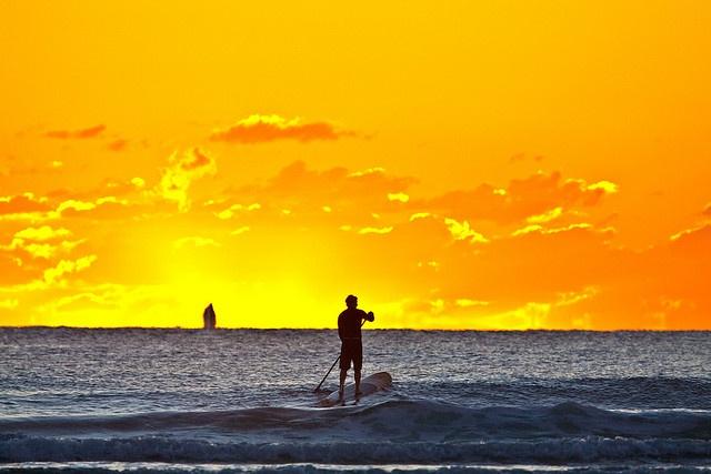 Sunrise SUP Burleigh Heads by Michael Dawes