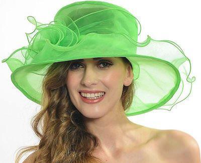 Kentucky Derby Green Women's Hat