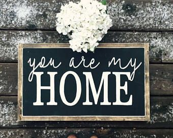 You are my home distressed wood sign/Home decor/Farmhouse decor/Rustic home decor/Wall art/handpainted signs, Wall decor (Rustic Chic, Modern Farmhouse, fixer upper) LOVE YOU MORE Painted Wood Sign  Wall decor Rustic Chic, farmhouse, rustic, entry way, living room, dining room, family room, bedroom, bathroom, master bedroom, kitchen, storage, side table, sofa tsble,signs. Diy decor, home decor, shiplap #afflink
