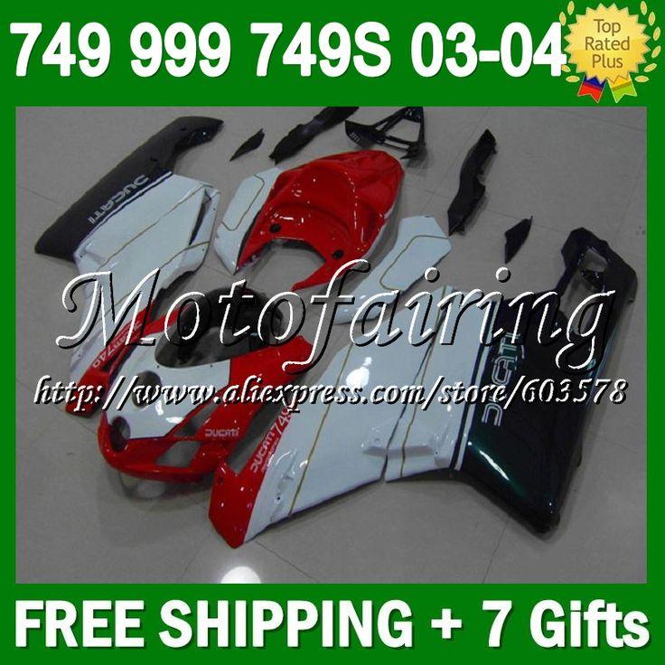 Красный зеленый 7 подарки + для DUCATI 749 - 999 03 - 04 749 S 999 S 749R 749 999 6F31 999R 749 2004 2003 - 2004 03 04 2003 зализа красный белый