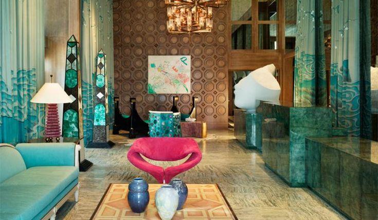 KELLY WEARSTLER | INTERIORS. Lobby at Viceroy Miami