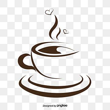 Xicara De Cafe De Vetor Cafe Cafe Criativo Cafeteria Imagem Png E Vetor Para Download Gratuito Cangkir Kopi Kopi Cangkir