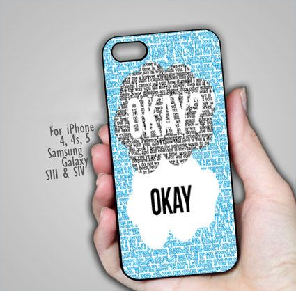 OKAY The Fault in Our Stars iPhone Case 4 & 4s iphone by MusimHujan