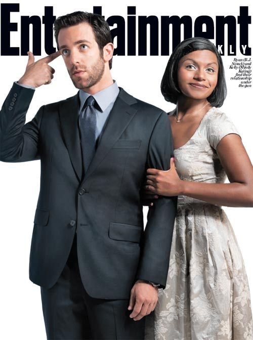 LOVE this photo! It's BJ Novak and Mindy Kaling being Ryan and Kelly from the Office! :D I love both of these people!
