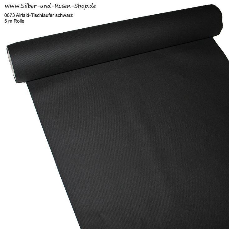 Dekovlies Airlaid-Tischläufer schwarz 5 m Rolle