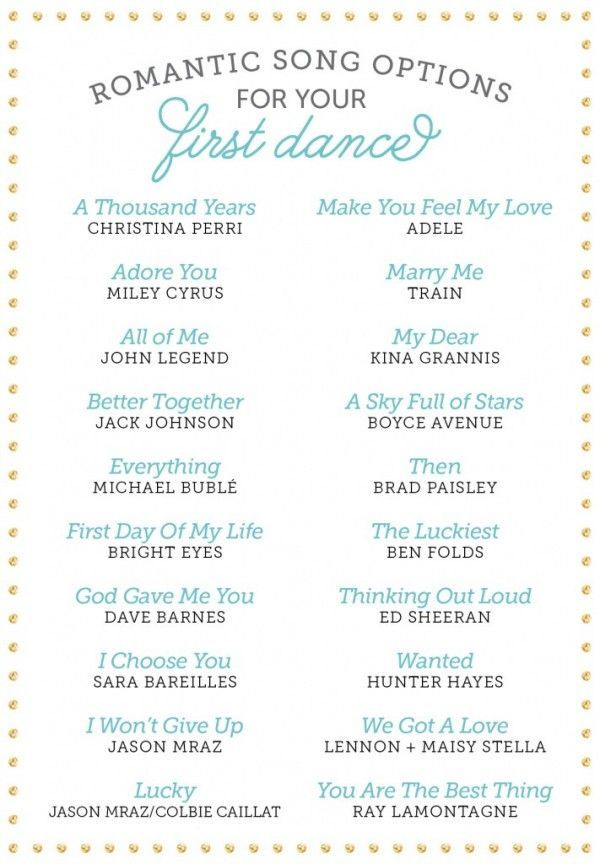 romantic first dance songs