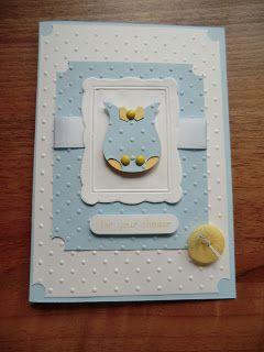 SU Baby or shower card - Owl punch, Designer Frames E F