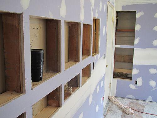 DIY Built in shelving