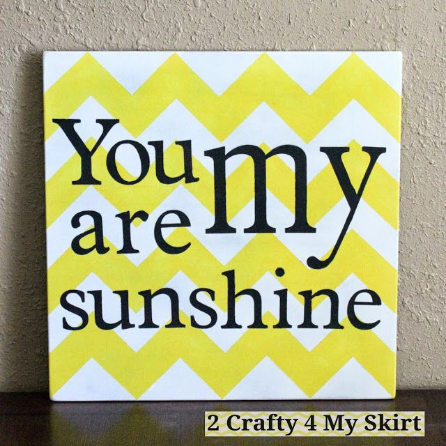 2 Crafty 4 My Skirt: You Are My Sunshine ~ Chevron Sign Tutorial & GIVEAWAY!!!
