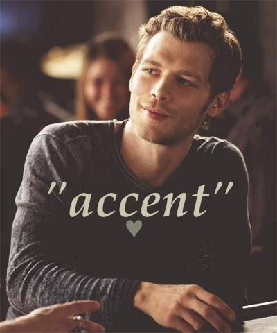 klaus, accent, and the vampire diaries image