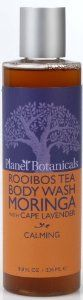Planet Botanicals Rooibos Tea Body Wash, Moringa with Cape Lavender, 8 Fluid Ounce by Planet Botanicals. $16.00. Infused with calming organic cape lavender essential oil made by an artisan distiller in south africa. 100% natural 99% organic ingredients. Moringa fruit oil from kenya is packed with antioxidants and rich in skin-softening oleic acid that deeply conditions the skin. A refreshing and gentle organic body wash with nourishing olive and coconut oils, s...