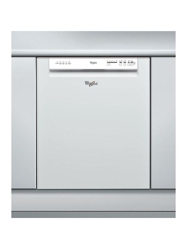 Whirlpool ADPU100WH diskmaskin. Energieffektiv diskmaskin från Whirlpool med elektroniskt vattenstopp i energiklass A+. Diskmaskinen har 5 program som bland annat Expressprogram och 30 minuter långt snabbprogram som diskar vid 40° C, idealiskt för lätt smutsad vardagsdisk. Det finns möjlighet till startfördröjning 2, 4 eller upp till 8 timmar.