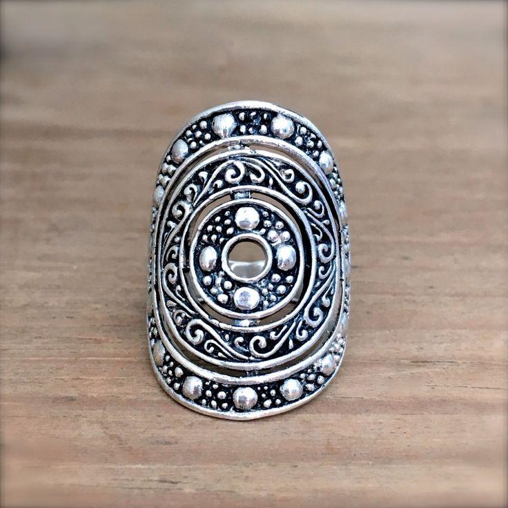 Aztec Mandala Sterling Silver Ring, Silver Mandala Ring, Boho Ring, Gypsy Ring, Mandala Silver Ring, Mandala Jewelry, Bohemian Jewelry, Boho by SeaGypsyCollection on Etsy https://www.etsy.com/listing/265773071/aztec-mandala-sterling-silver-ring