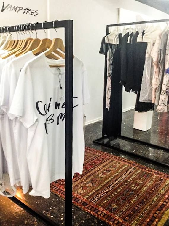 Spring/Summer '13 Capsule T-Shirt Collection & Main Collection Les Vampires - Interior Display at EVA - Design Românesc; styling by 109