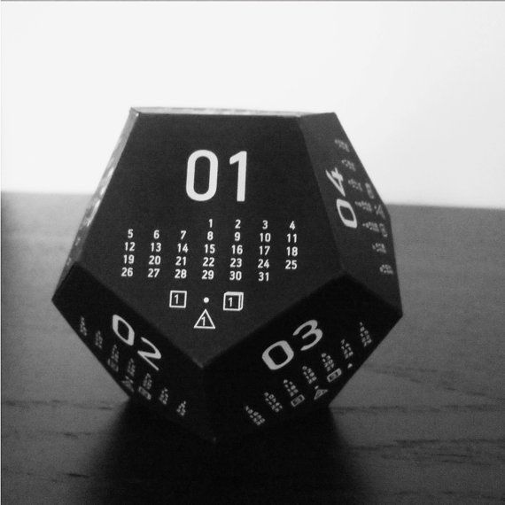 3D multipurpose dodecahedron rpg desk calendar by RavenJuice
