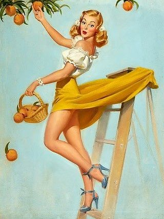 Varlas Girl Pinup Posters...Perfect for our bathroom art