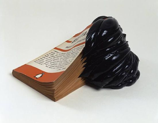 'mass' by jonathan callan, 2003 (silicone rubber and paper)