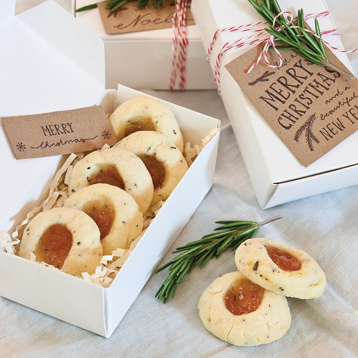 25 Days of Christmas Cookies: Rosemary-Pear Thumbprint Cookies - Celebrate Magazine