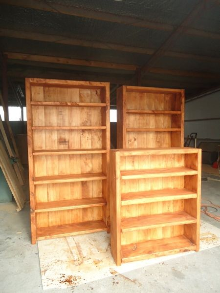 Choose from a selection of Assorted Bookcases to suit your needs and style, made in New Zealand from Macrocarpa. 800 x 1.2m. Buy Now: http://www.macsmacrocarpa.co.nz/page18.html