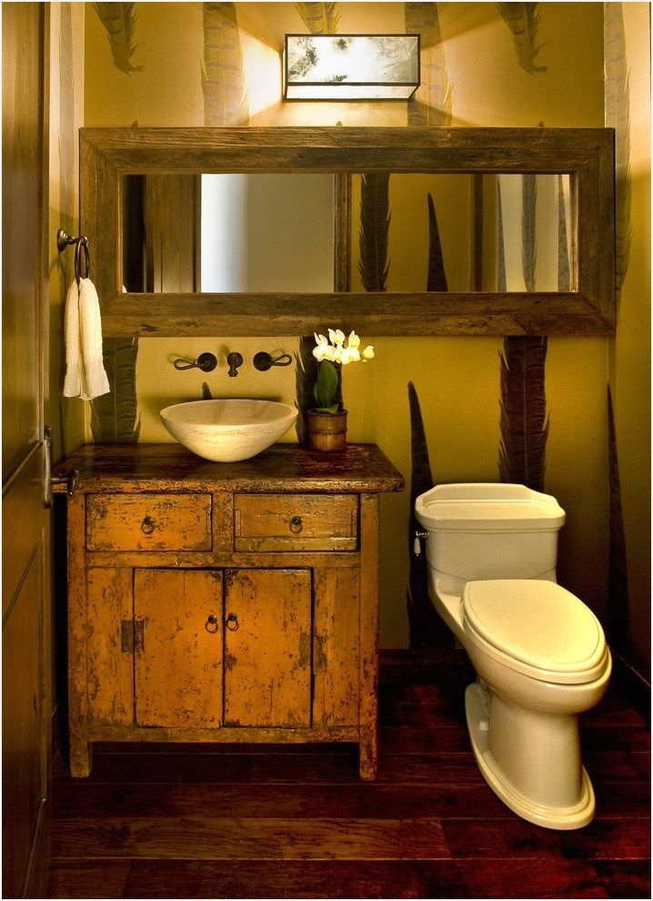 43 Stunning Rustic Bathroom Mirrors Ideas Comedecor Rustic Bathrooms Rustic Bathroom Designs Small Rustic Bathrooms