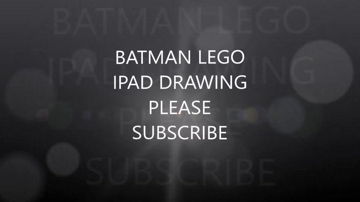 BATMAN LEGO DRAWING USING IPAD PRO