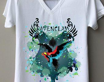 Ravenclaw Shirt Frauen, Siebdruck weiß lustige Ravenclaw Kleidung Frauen, Ravenclaw Herren T-shirt Art T-Shirts Frauen, tolle Männer T-Shirt
