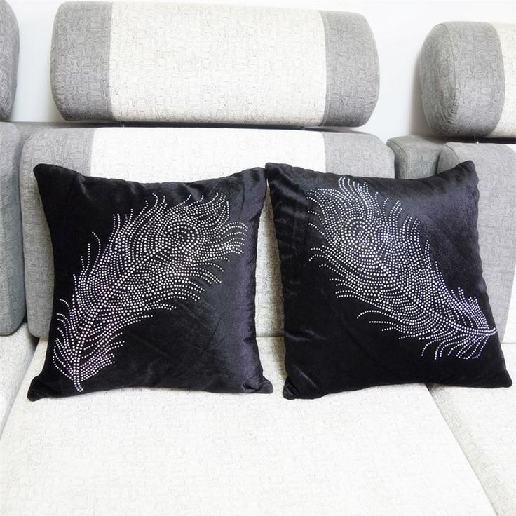 Sofa Pillows Cheap Pillow Case Buy Directly from China Diamond swan feather pattern Mercerized cotton pillowcase home decoration forter bedding set sofa
