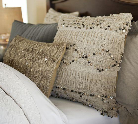 Moroccan Wedding Blanket Pillow Covers   Pottery Barn -- inspiring diy idea! modern boho chic hippie glam updated interior design home decor
