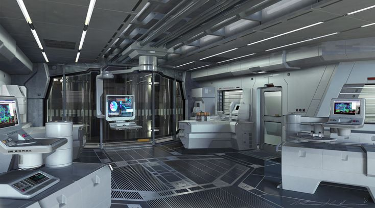 Future, Futuristic Interior, Science Fiction, Laboratory, The Avengers  Illustrations By Nathan Schroeder