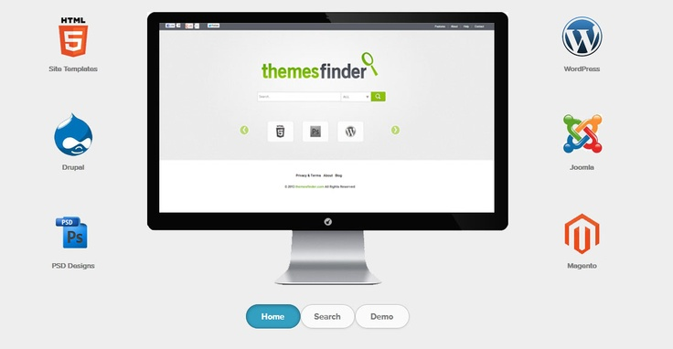 This is features page of  http://www.themesfinder.com/features