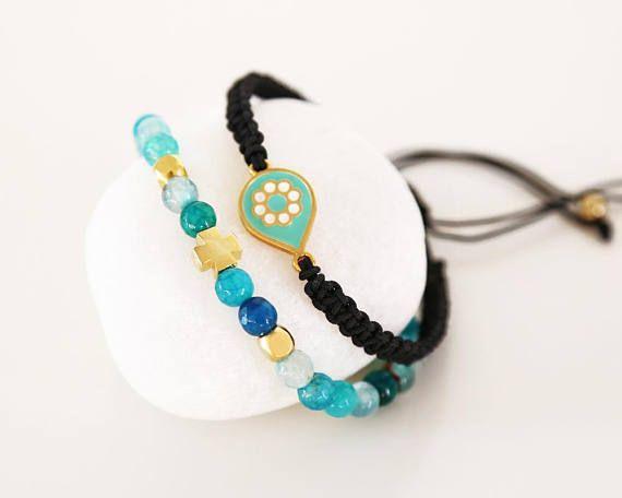 greek jewelry agate gemstone bracelet gold cross bracelet